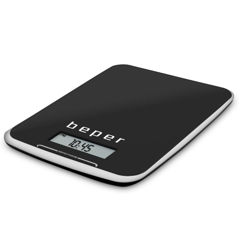 Beper Ζυγαριά κουζίνας ηλεκτρονική μαύρη 10Kg 90.125-BLK