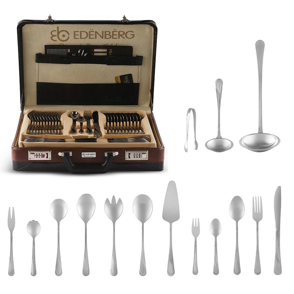 Edenberg Βαλιτσάκι με σετ μαχαιροπίρουνα και εργαλεία κουζίνας 72 τμχ EB-5821A