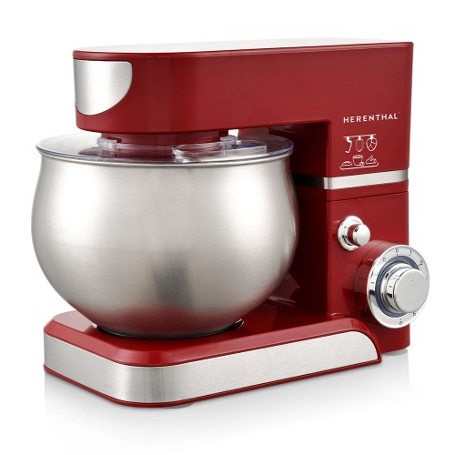 Herenthal Επιτραπέζιο μίξερ - Κουζινομηχανή 1400W Max σε κόκκινο χρώμα HT-PKM1000-RED