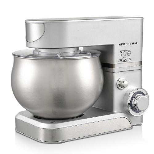 Herenthal Επιτραπέζιο μίξερ - Κουζινομηχανή 1400W Max σε ασημί χρώμα HT-PKM1000-SLV