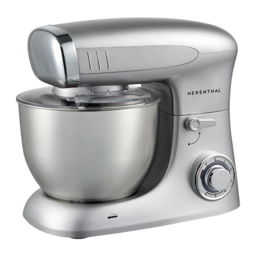Herenthal Επιτραπέζιο μίξερ - Κουζινομηχανή 1900W σε ασημί χρώμα HT-PKM1900.472.9-SLV