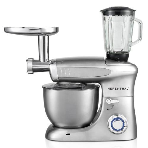 Herenthal Επιτραπέζιο Μίξερ - Κουζινομηχανή 1900W Max Ασημί HT-PKM1900.472BG-SLV