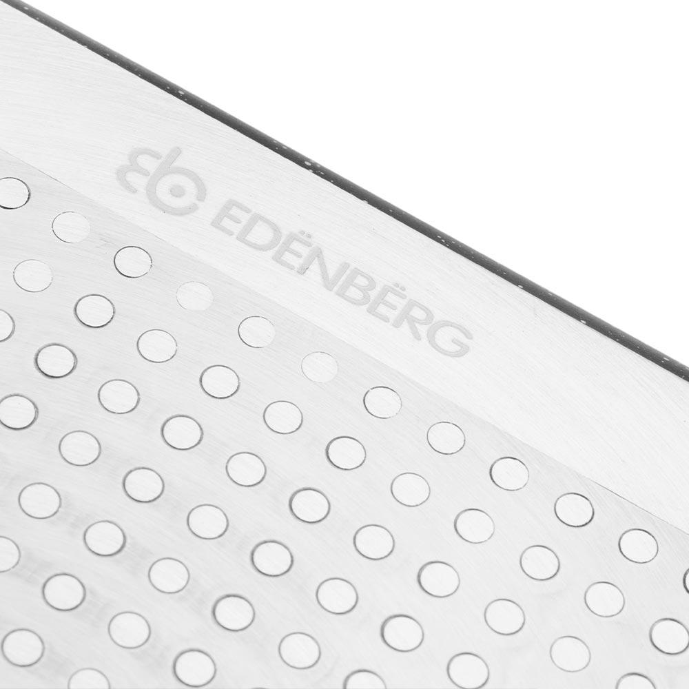 Edenberg Αντικολλητική ορθογώνια γάστρα 8Lt με καπάκι EB-4611