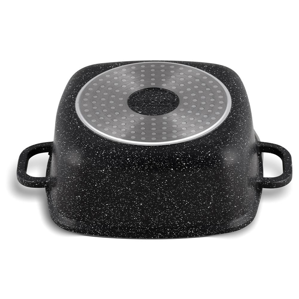 Edenberg Αντικολλητική τετράγωνη κατσαρόλα 24cm με γυάλινο καπάκι EB-8113