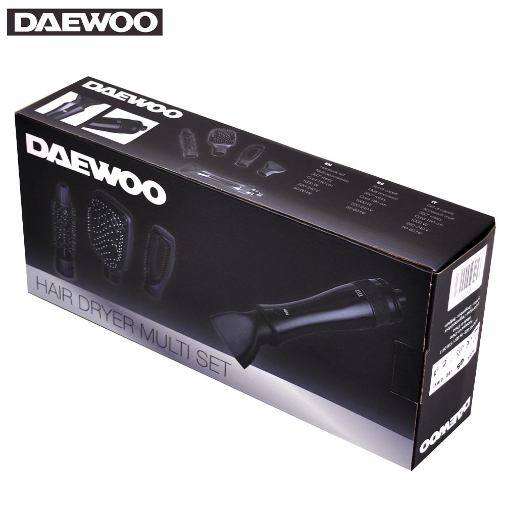 Daewoo Ηλεκτρική βούρτσα και στεγνωτήρας με 4 κεφαλές SYM-2813