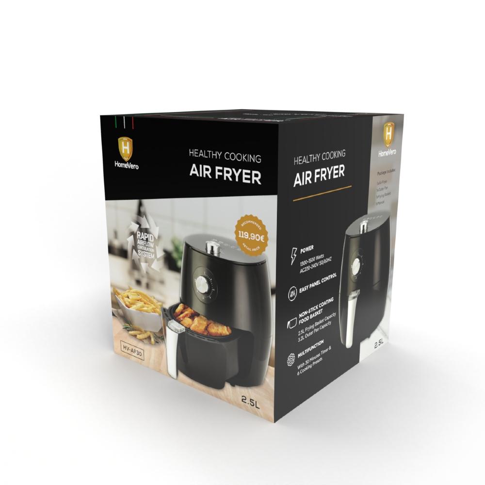 HomeVero Φριτέζα Αέρος 2.5Lt 1500W HV-AF30