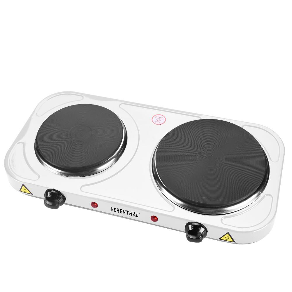 Herenthal Μαγειρική Εστία Διπλή 2500W Λευκό HT-DKP-2500.15-WHT