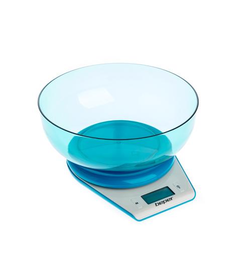 Beper 90.116BL Ζυγαριά Κουζίνας Ηλεκτρονική 5Κg Μπλε