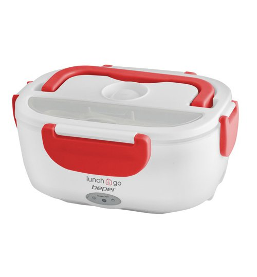 Beper 90.920R Θερμαινόμενο Δοχείο Φαγητού 650ml/450ml 40W - Κόκκινο