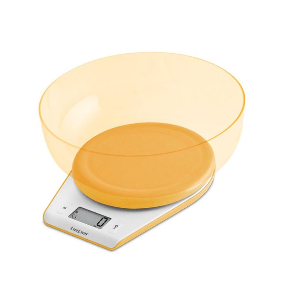 Beper 90.116AR Ζυγαριά Κουζίνας Ηλεκτρονική 5Κg Πορτοκαλί
