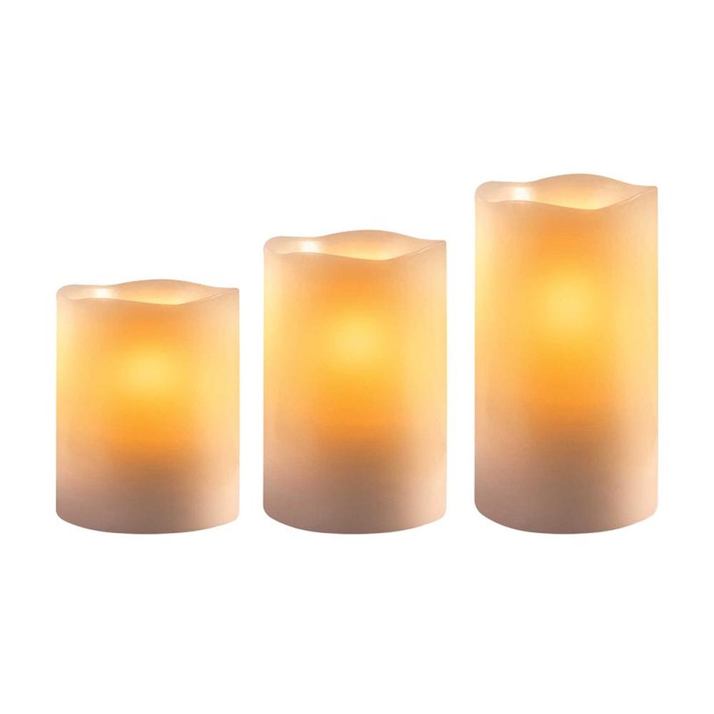 Σετ 3 Κεριά LED με Τηλεχειριστήριο Beper 70.450