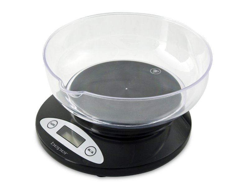 Beper 90.115Ν Ηλεκτρονική Ζυγαριά Κουζίνας Μαύρη