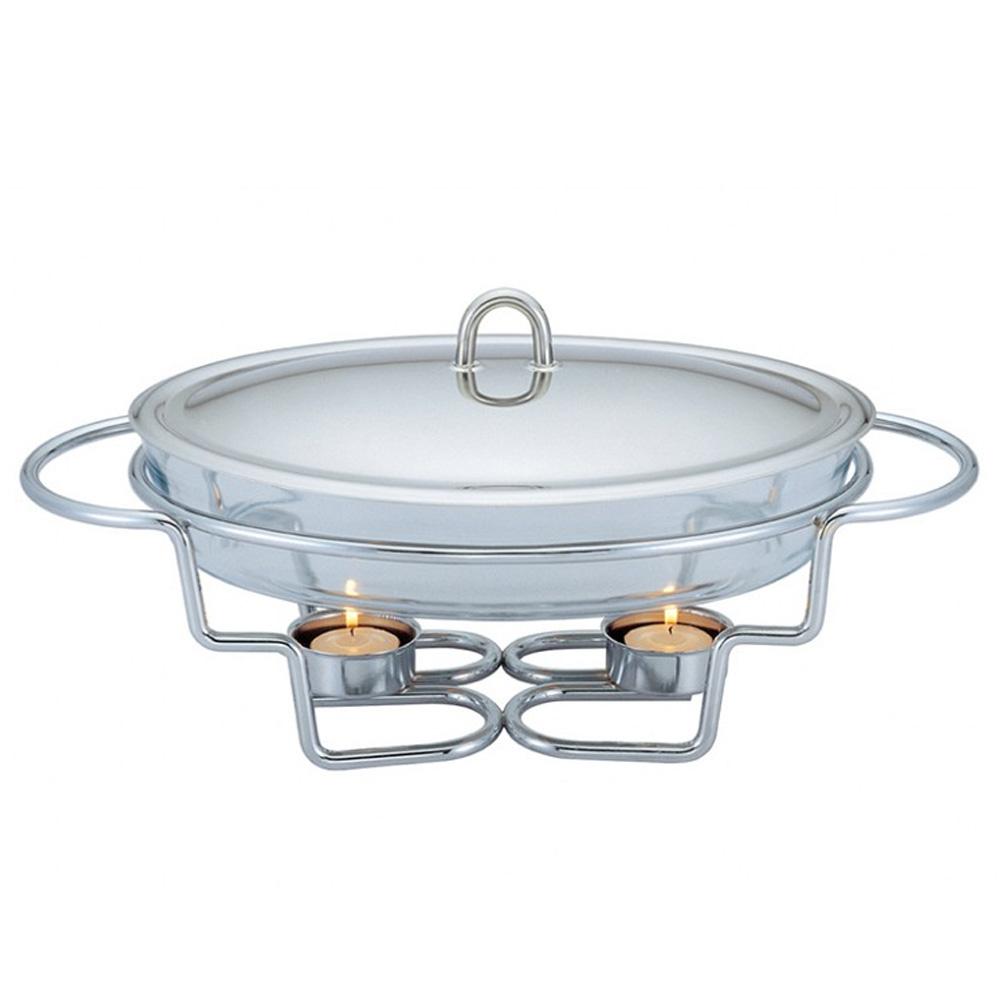 3 σε 1 Σετ ψησίματος-θέρμανσης-διατήρησης φαγητού με ρεσό και πυρίμαχο οβάλ σκεύος 3lt BH-1382