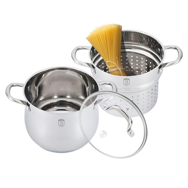 Σετ Μαγειρικών Σκευών για ζυμαρικά και ρύζι 3 τμχ Berlinger Haus Silver Belly Collection BH-1422