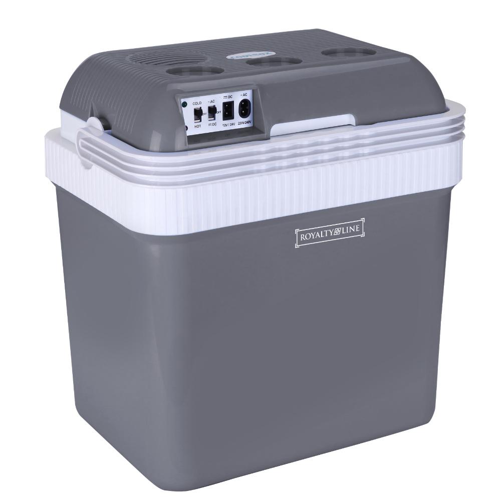 Royalty Line Ηλεκτρικό Ψυγείο & Θερμαντήρας για Σπίτι/Αυτοκίνητο Γκρι RL-CB30-SIL