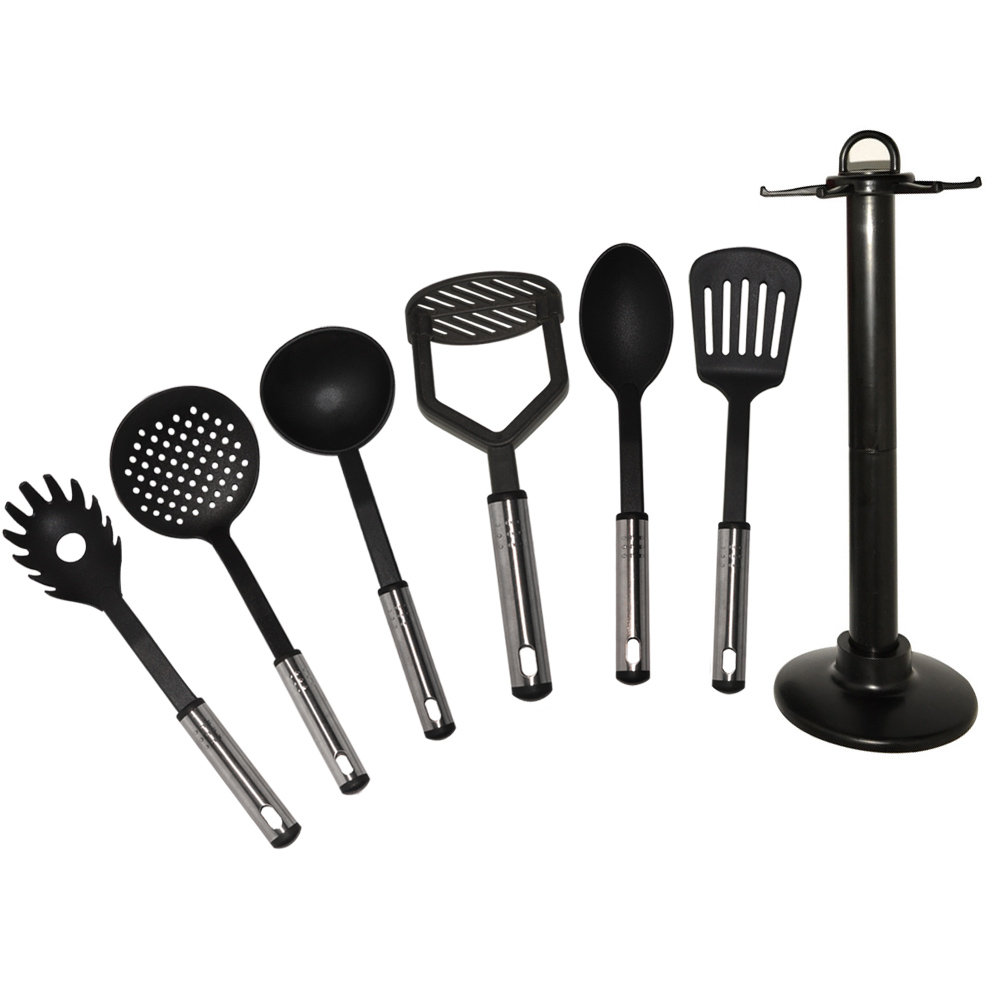 HG-5006 Σετ Inox Εργαλεία Μαγειρικής & Βάση 7τμχ Herzberg