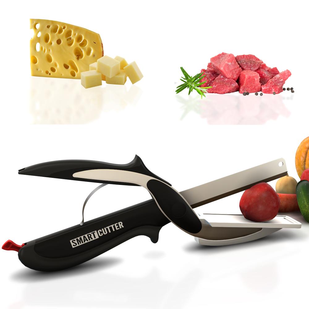 Έξυπνο Μαχαίρι με Βάση Κοπής 2σε1 Herzberg HG-5043