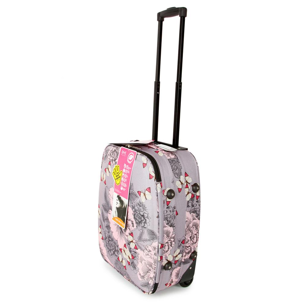 SUNRISE BAGS ΒΑΛΙΤΣΑ ΧΕΙΡΑΠΟΣΚΕΥΗ ΥΦΑΣΜΑΤΙΝΗ 21 λίτρα 47cm Pink Butterfly 2092N-18-PK