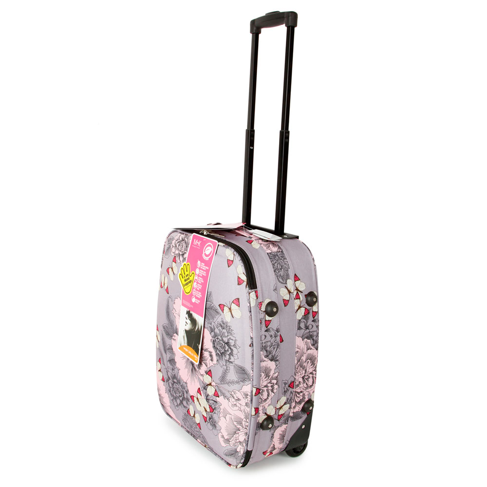 SUNRISE BAGS ΒΑΛΙΤΣΑ ΧΕΙΡΑΠΟΣΚΕΥΗ ΥΦΑΣΜΑΤΙΝΗ 35 λίτρα 53cm Pink Butterfly 2092N-21-PK