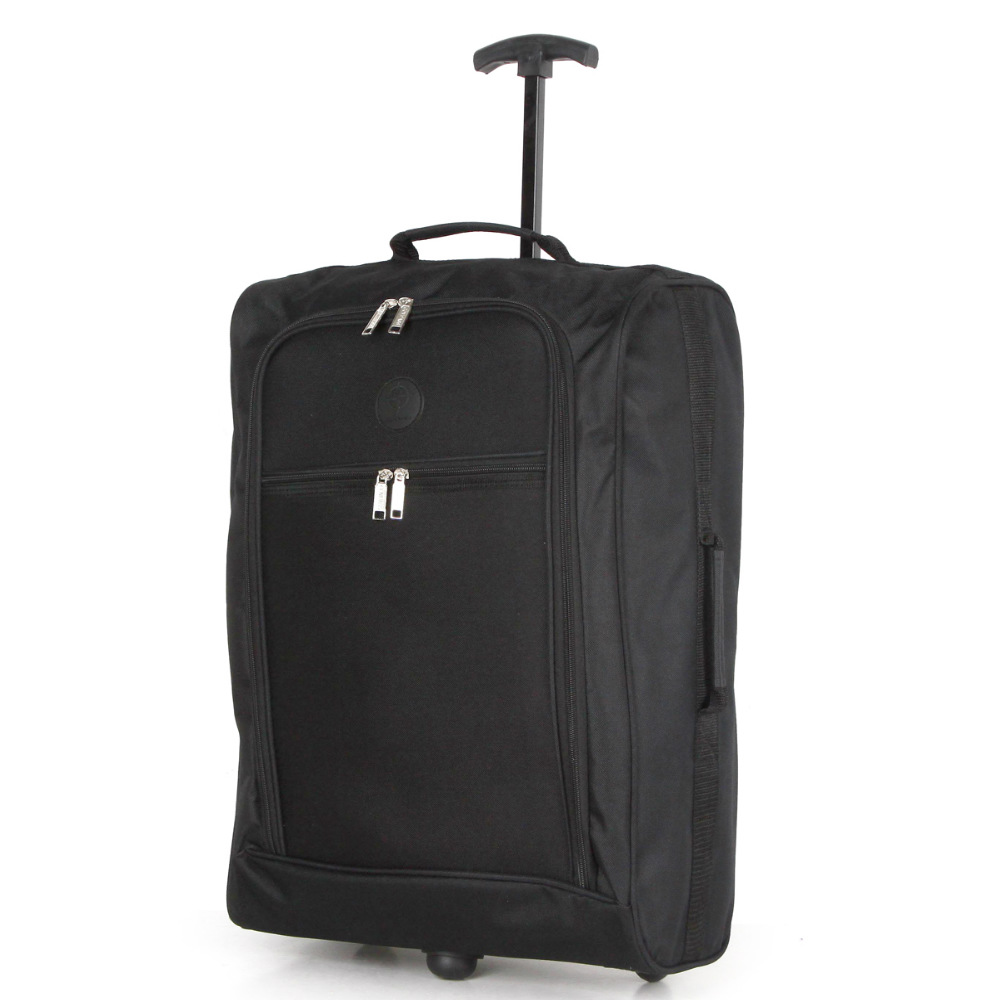 CB01.A-BK Βαλίτσα Καμπίνας Τρόλεϊ 38Lt Μαύρη Sunrise Bags