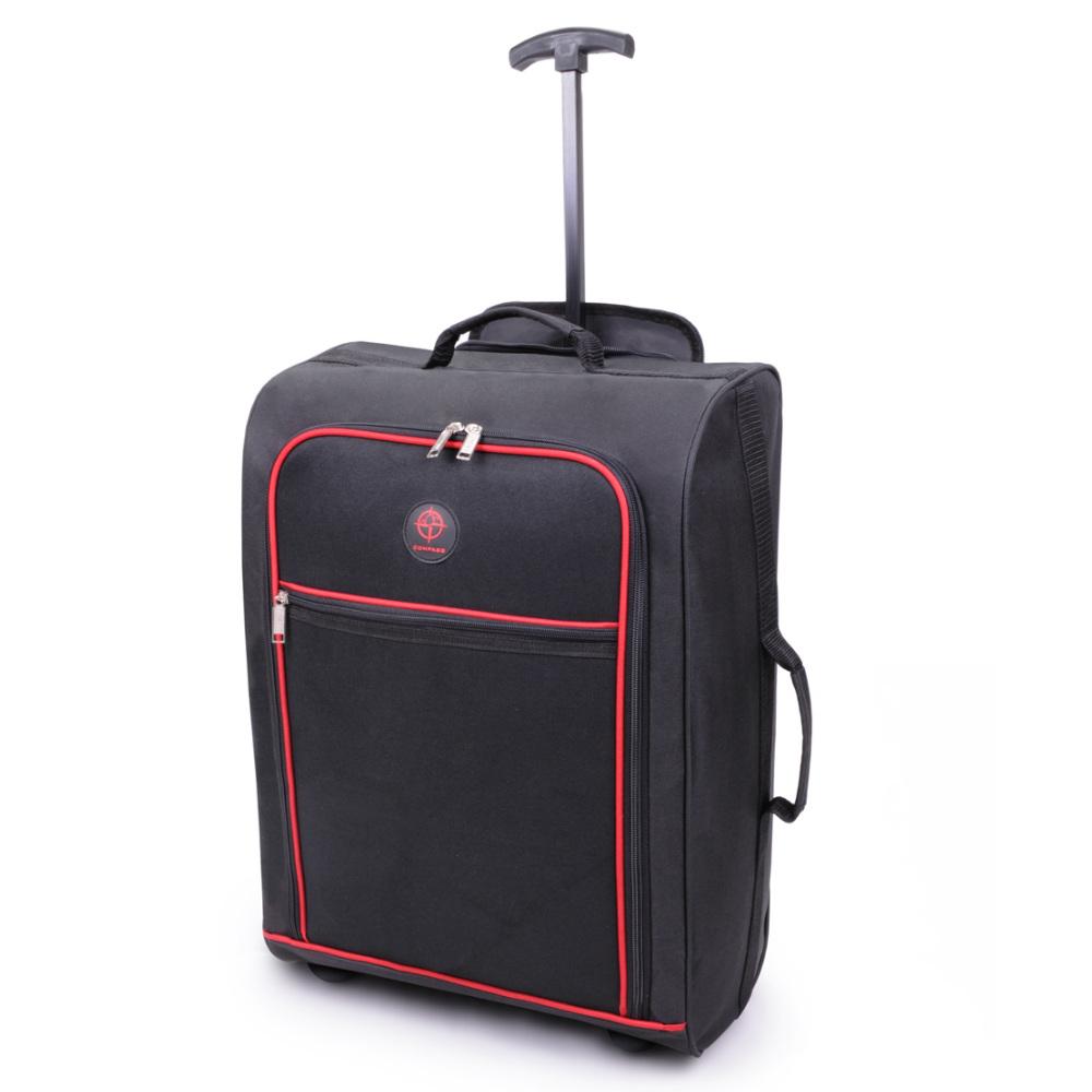 CB01.A-BKRD Βαλίτσα Καμπίνας Τρόλεϊ 38Lt Μαύρη-Κόκκινη Sunrise Bags