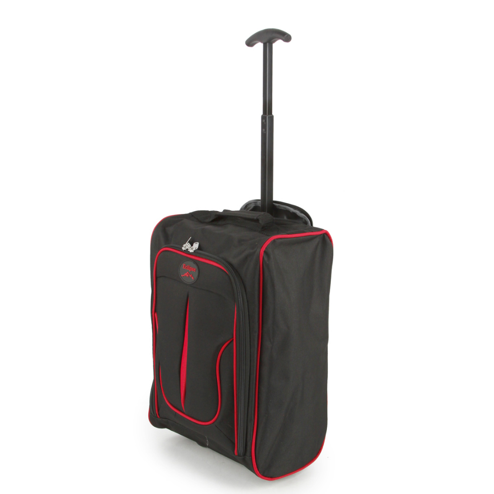 2149-17-BKRD Βαλίτσα Καμπίνας Τρόλεϊ Μαύρη-Κόκκινη Sunrise Bags