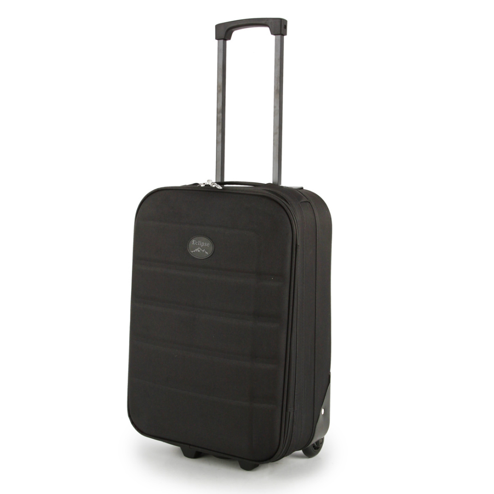 2149-19-BK Βαλίτσα Καμπίνας Τρόλεϊ Μαύρη Sunrise Bags
