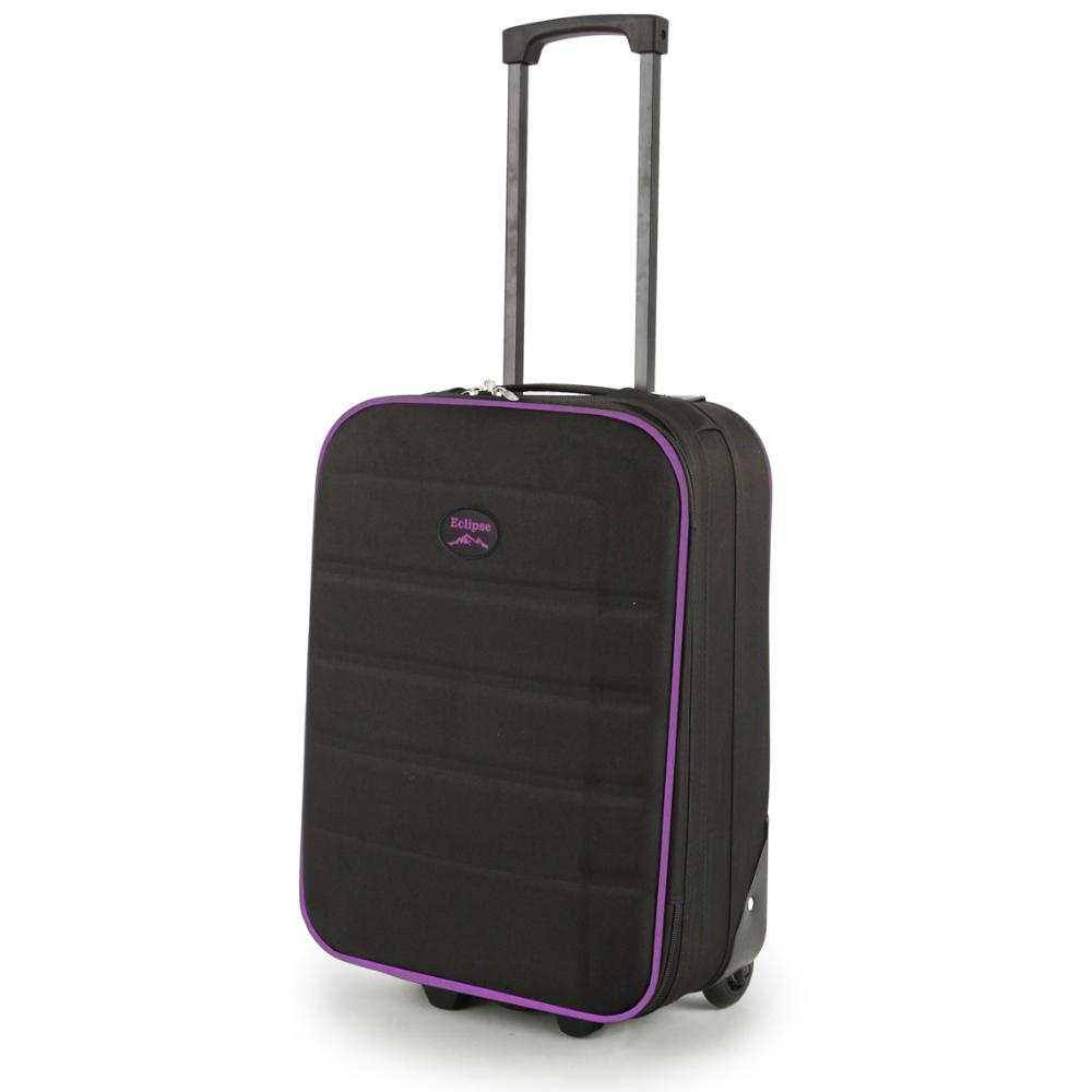 2149-19-BKPU Βαλίτσα Καμπίνας Τρόλεϊ Μαύρο-Μοβ Sunrise Bags