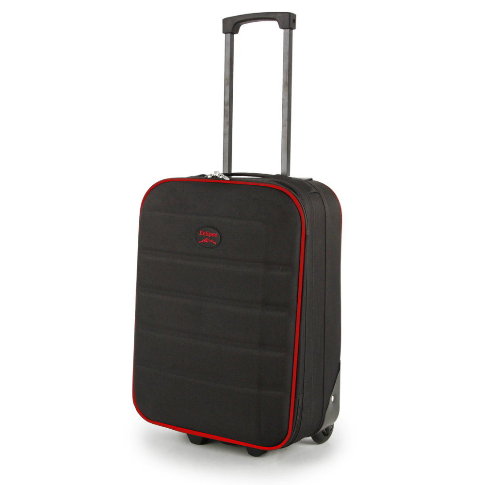 2149-19-BKRD Βαλίτσα Καμπίνας Τρόλεϊ Μαύρο-Κόκκινο Sunrise Bags