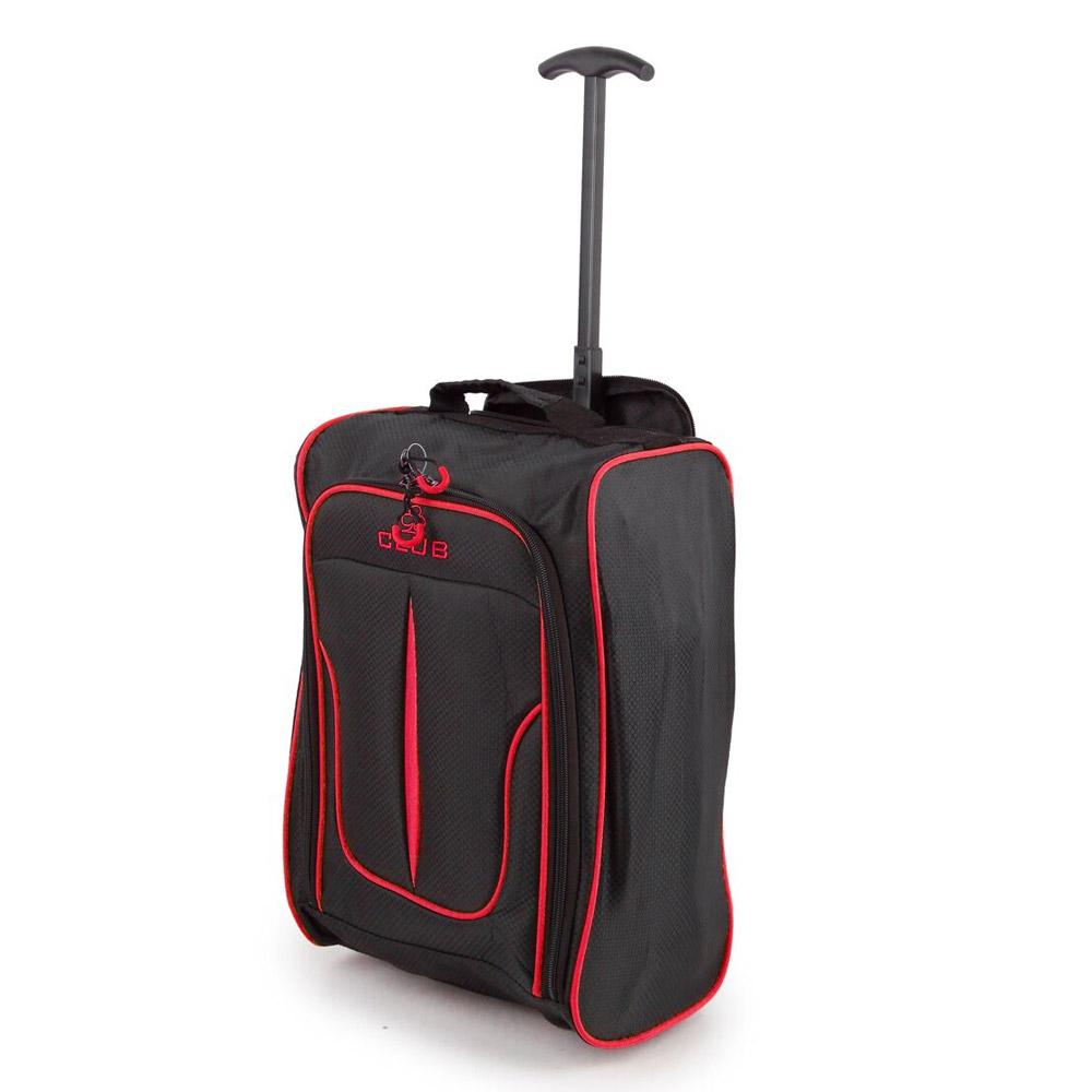 2147-17-BKBY Βαλίτσα Καμπίνας Τρόλεϊ Μαύρο-Μπορντό Sunrise Bags