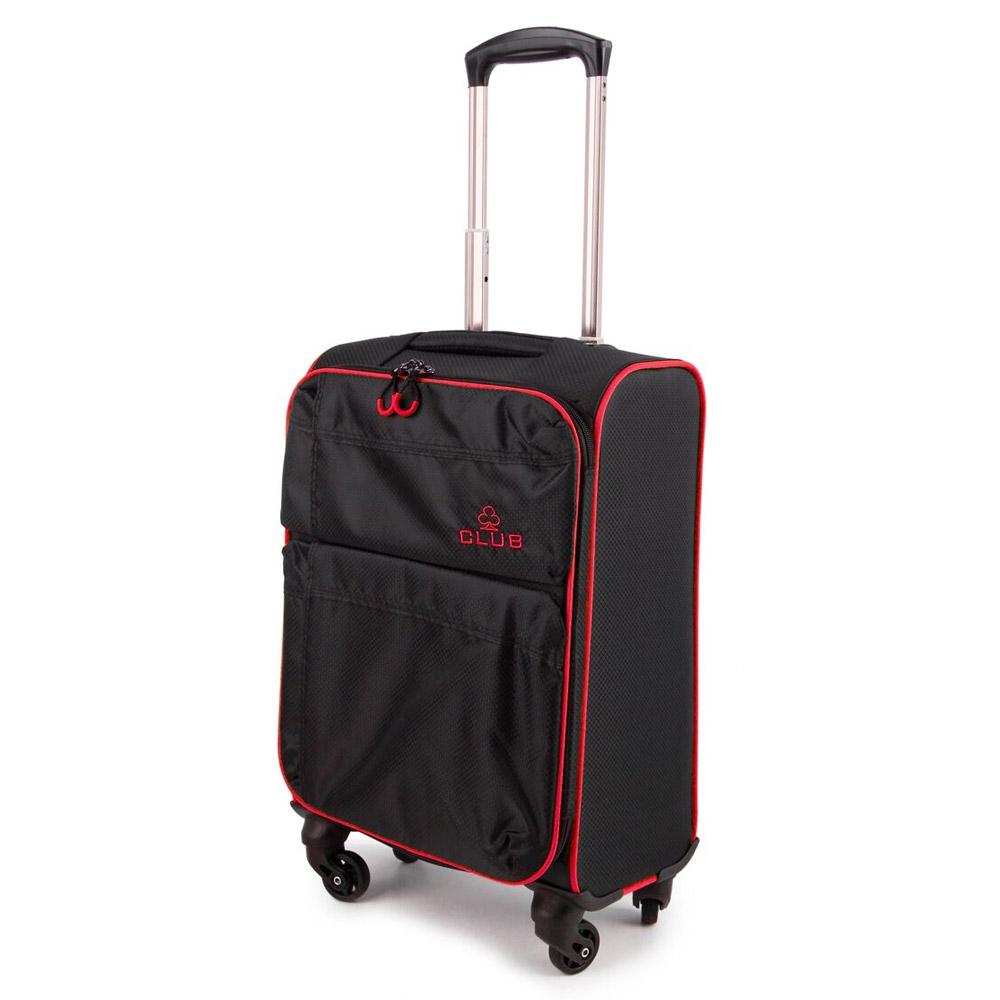 2147-22-BKBY Βαλίτσα Καμπίνας Τρόλεϊ 4 Ρόδες Μαύρο-Μπορντό Sunrise Bags