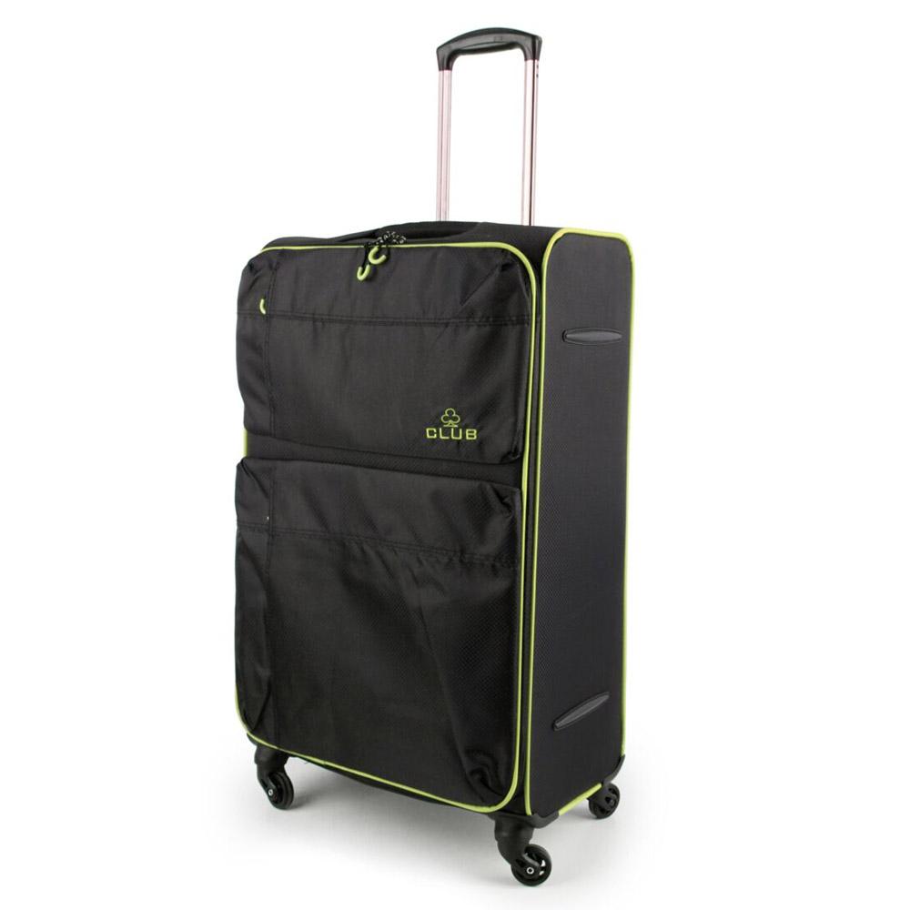 2147-31-BKGN Βαλίτσα Τρόλεϊ με 4 Ρόδες Μαύρο-Πράσινο Sunrise Bags