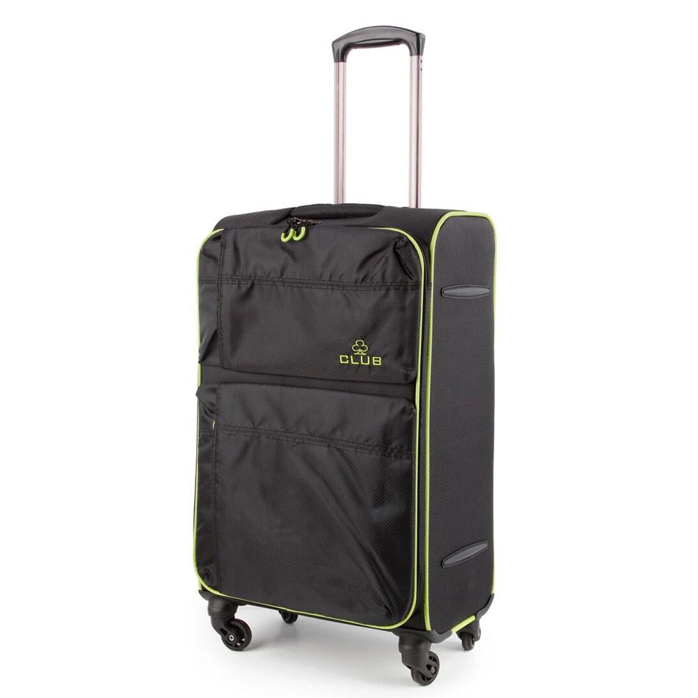 2147-27-BKGN Βαλίτσα Τρόλεϊ με 4 Ρόδες Μαύρο-Πράσινο Sunrise Bags