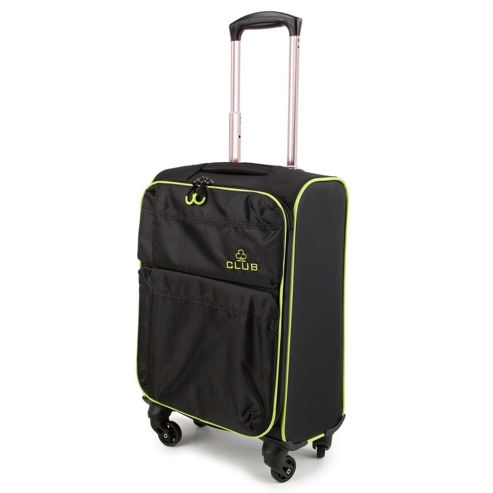 2147-22-BKGN Βαλίτσα Καμπίνας Τρόλεϊ 4 Ρόδες Μαύρο-Πράσινο Sunrise Bags
