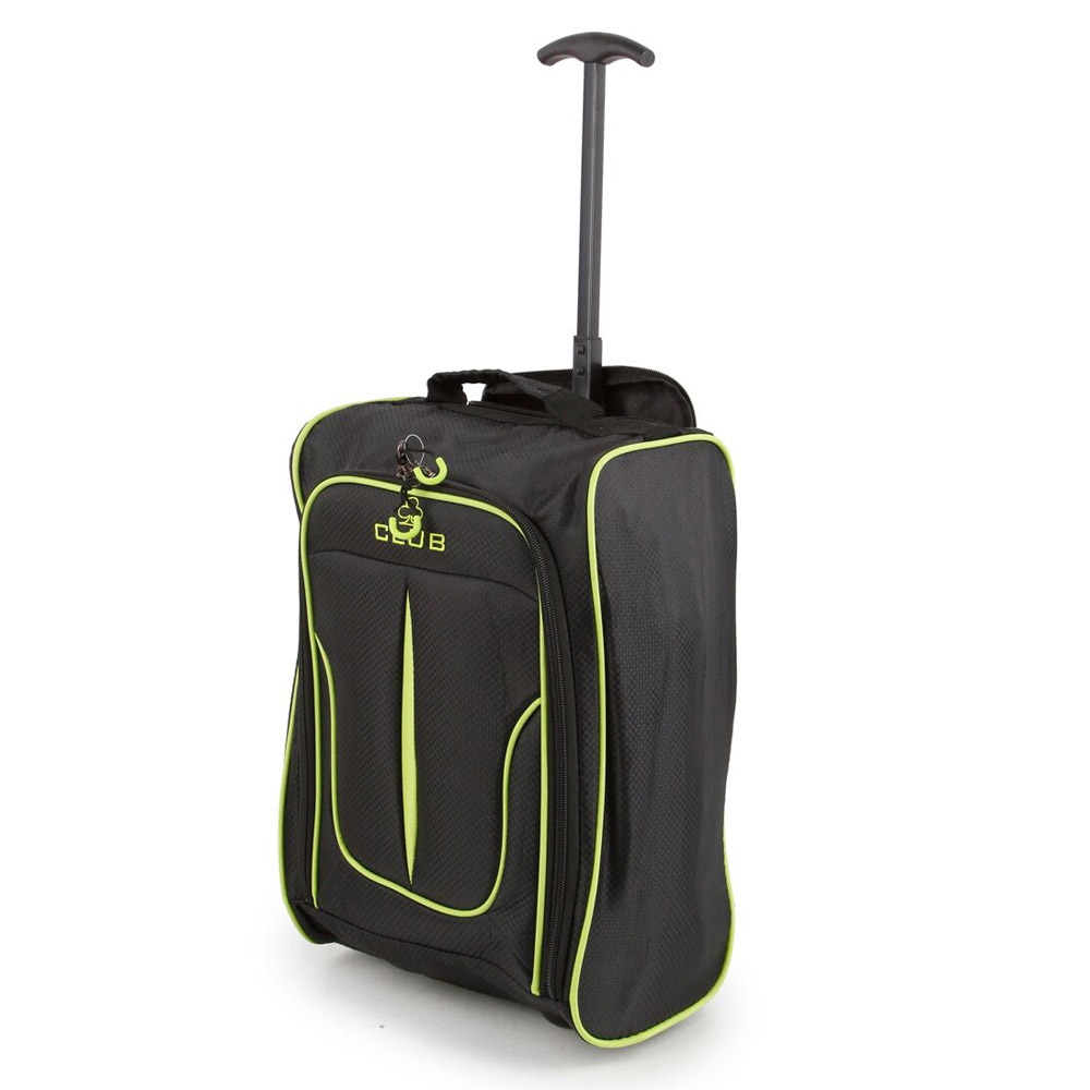2147-17-BKGN Βαλίτσα Καμπίνας Τρόλεϊ Μαύρη-Πράσινη Sunrise Bags
