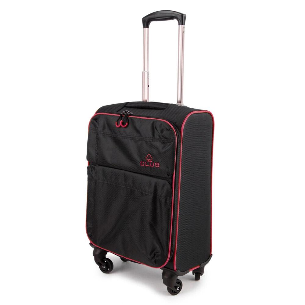 2147-22-BKPK Βαλίτσα Καμπίνας Τρόλεϊ 4 Ρόδες Μαύρο-Ροζ Sunrise Bags