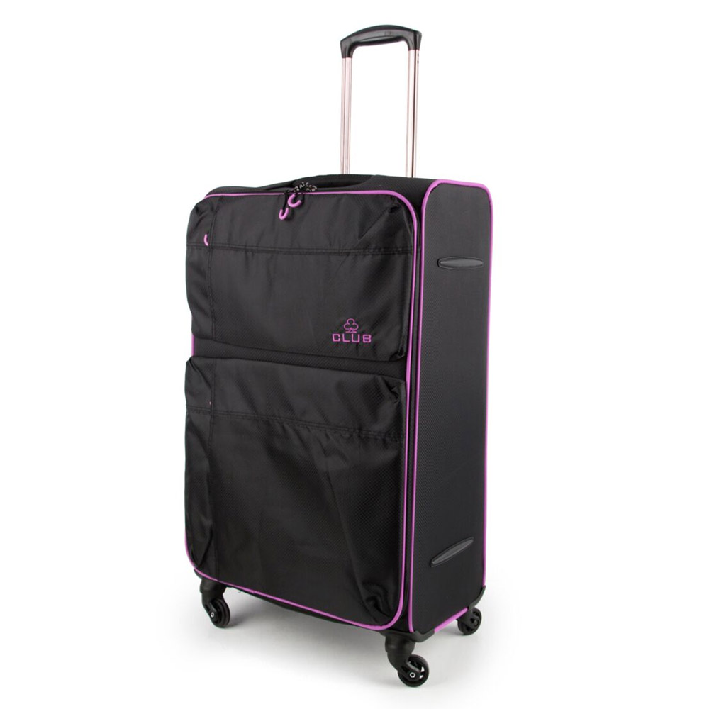 2147-31-BKPU Βαλίτσα Τρόλεϊ με 4 Ρόδες Μαύρο-Μοβ Sunrise Bags