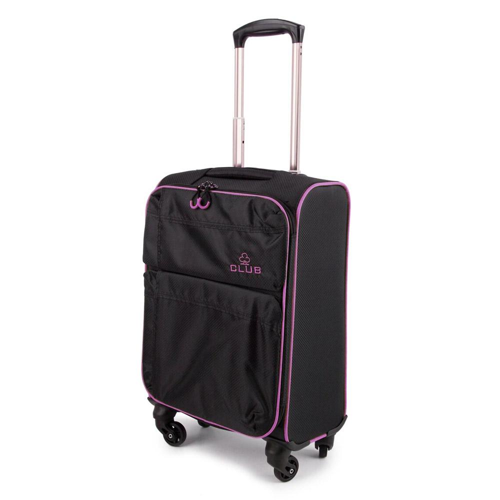 2147-22-BKPU Βαλίτσα Καμπίνας Τρόλεϊ 4 Ρόδες Μαύρο-Μοβ Sunrise Bags