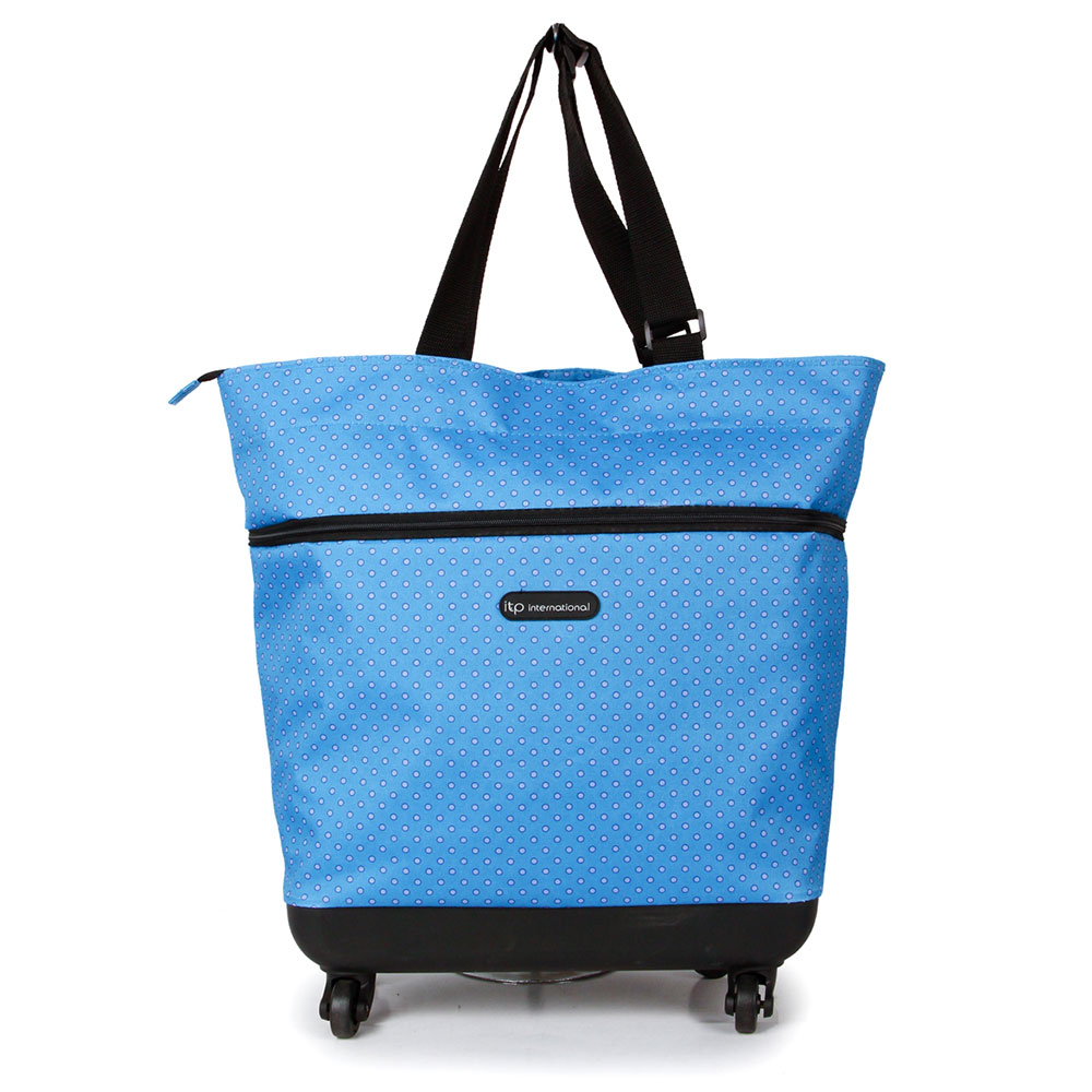 SUNRISE BAGS Εύκαμπτη τροχήλατη τσάντα καμπίνας lemington dot 44Lt EX008.A-LEDT