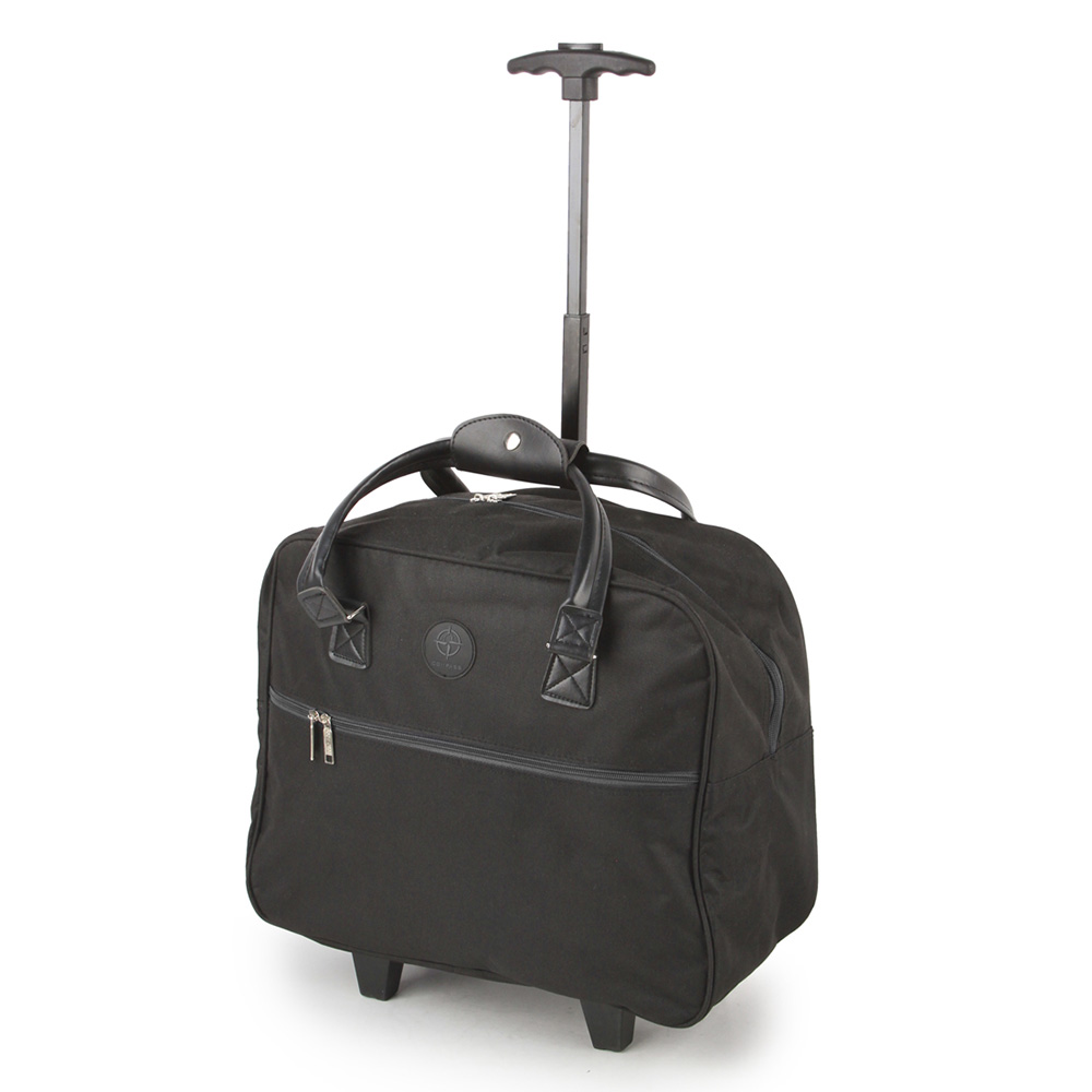 SUNRISE BAGS Τσάντα trolley μαύρη 32Lt CB02.E-BK