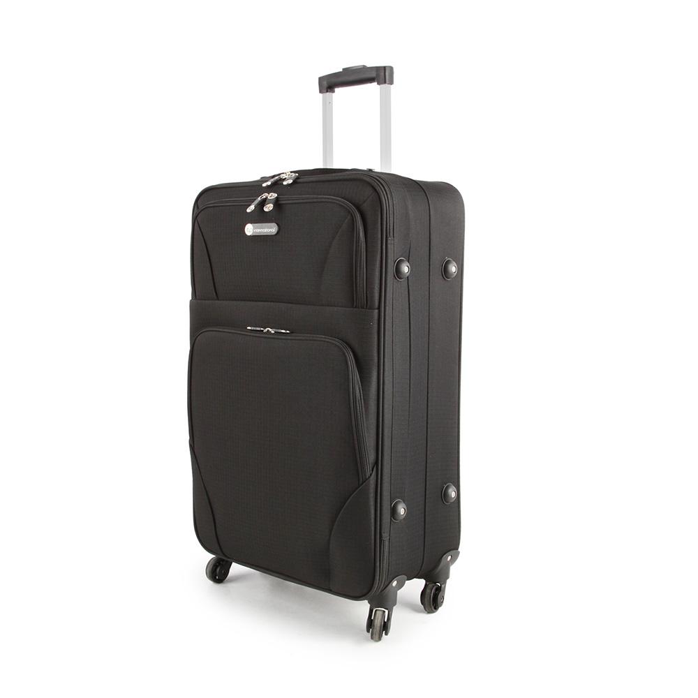SUNRISE BAGS Βαλίτσα trolley μαύρη 52Lt 2125N-27-BK