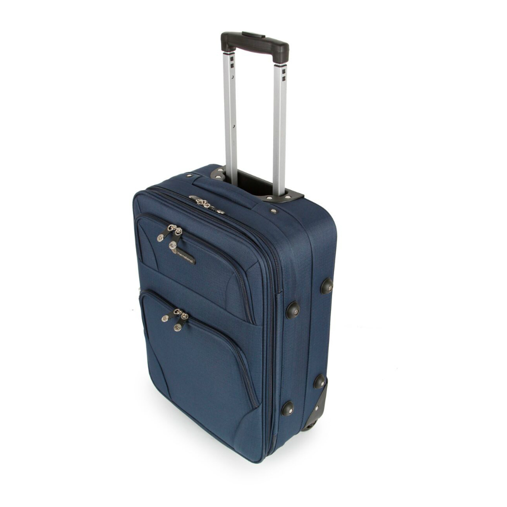SUNRISE BAGS Βαλίτσα trolley navy 52Lt 2125N-27-NV