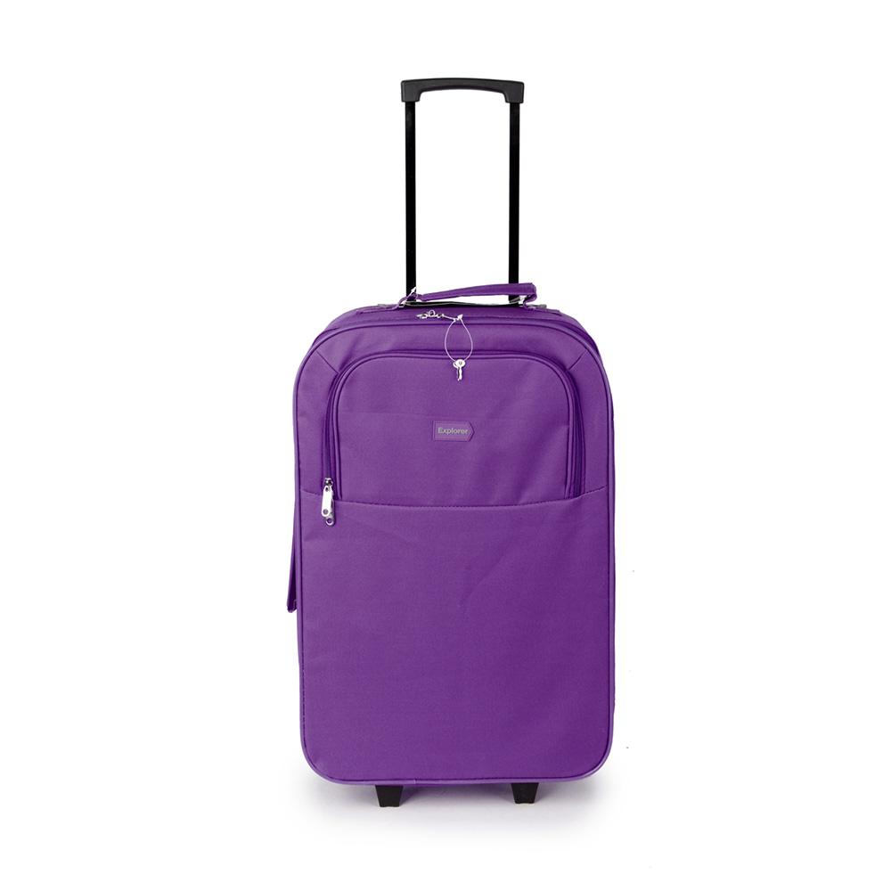 SUNRISE BAGS Βαλίτσα trolley μωβ-γκρι 49Lt 2087P-26-PU