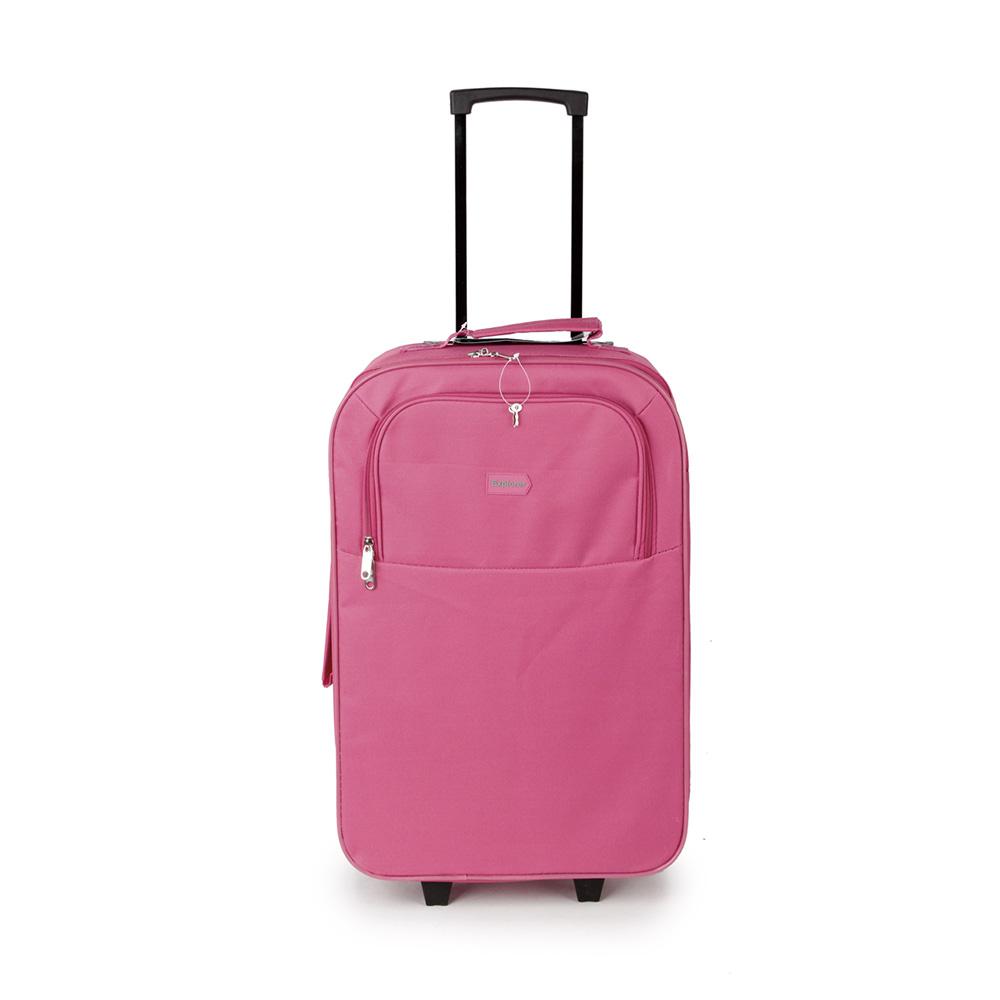 SUNRISE BAGS Βαλίτσα trolley ροζ-γκρι 49Lt 2087P-26-PK