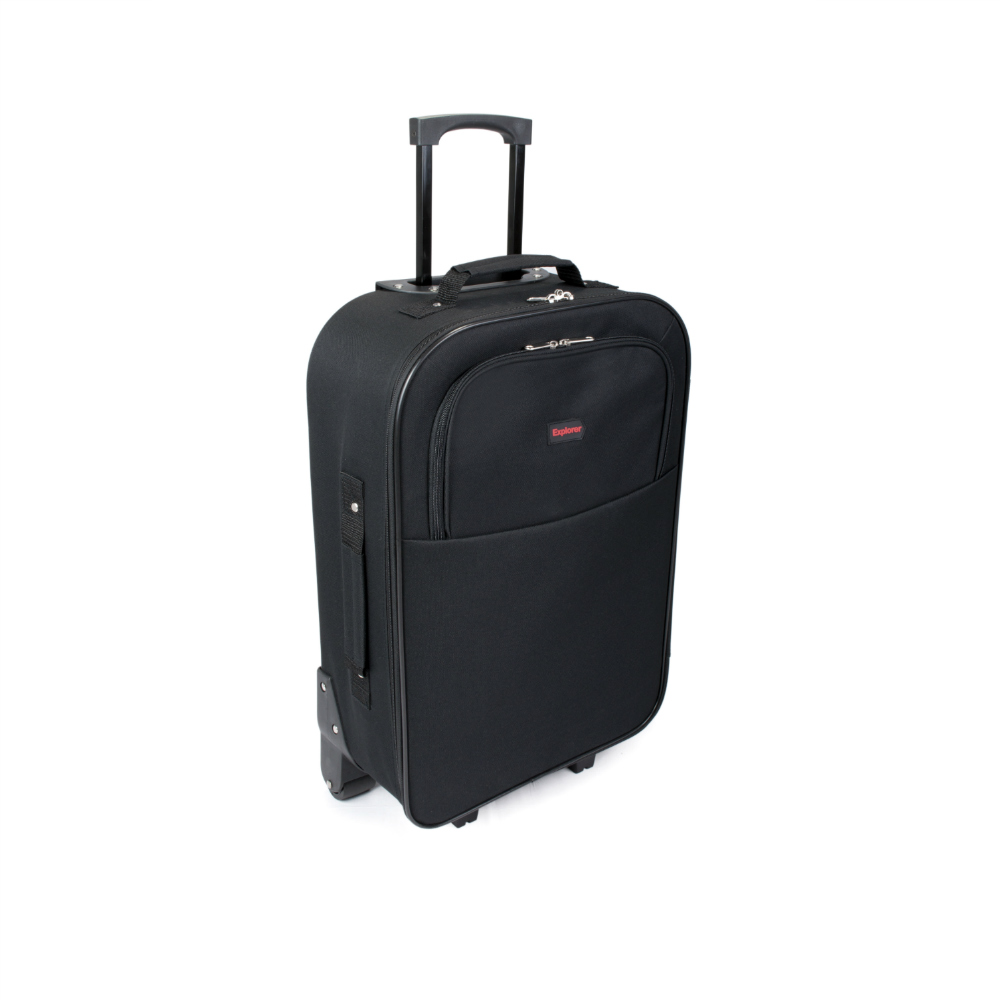 SUNRISE BAGS Χειραποσκευή trolley μαύρη-κόκκινη 33Lt 2087P-22-BK