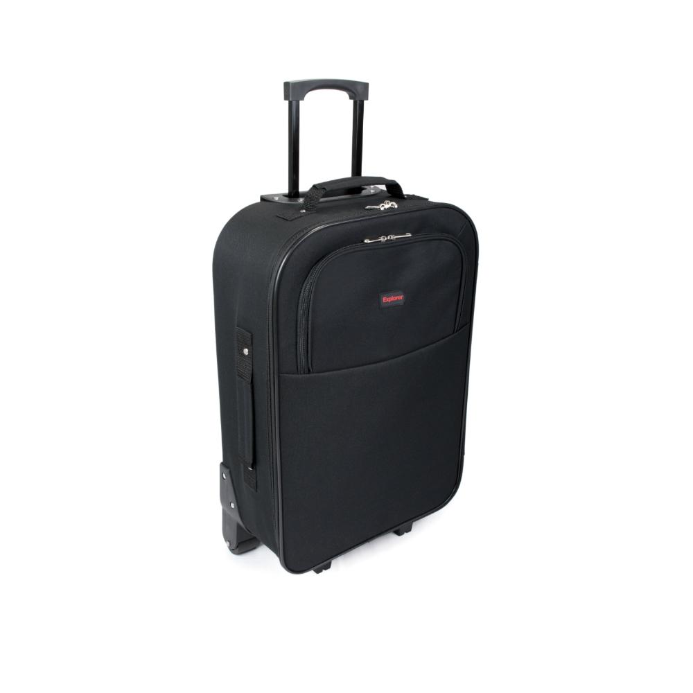 SUNRISE BAGS Βαλίτσα trolley μαύρη-κόκκινη 49Lt 2087P-26-BK