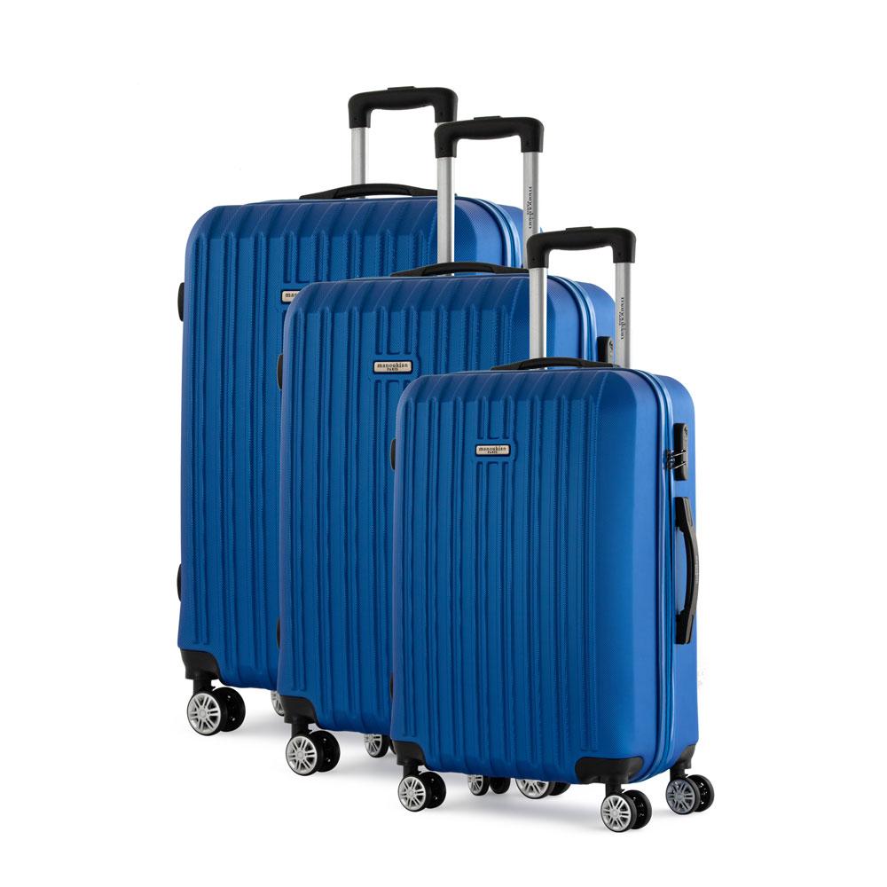 Manoukian Paris Σετ Βαλίτσες με χειραποσκευή 3τμχ Μπλε MAN-46-N