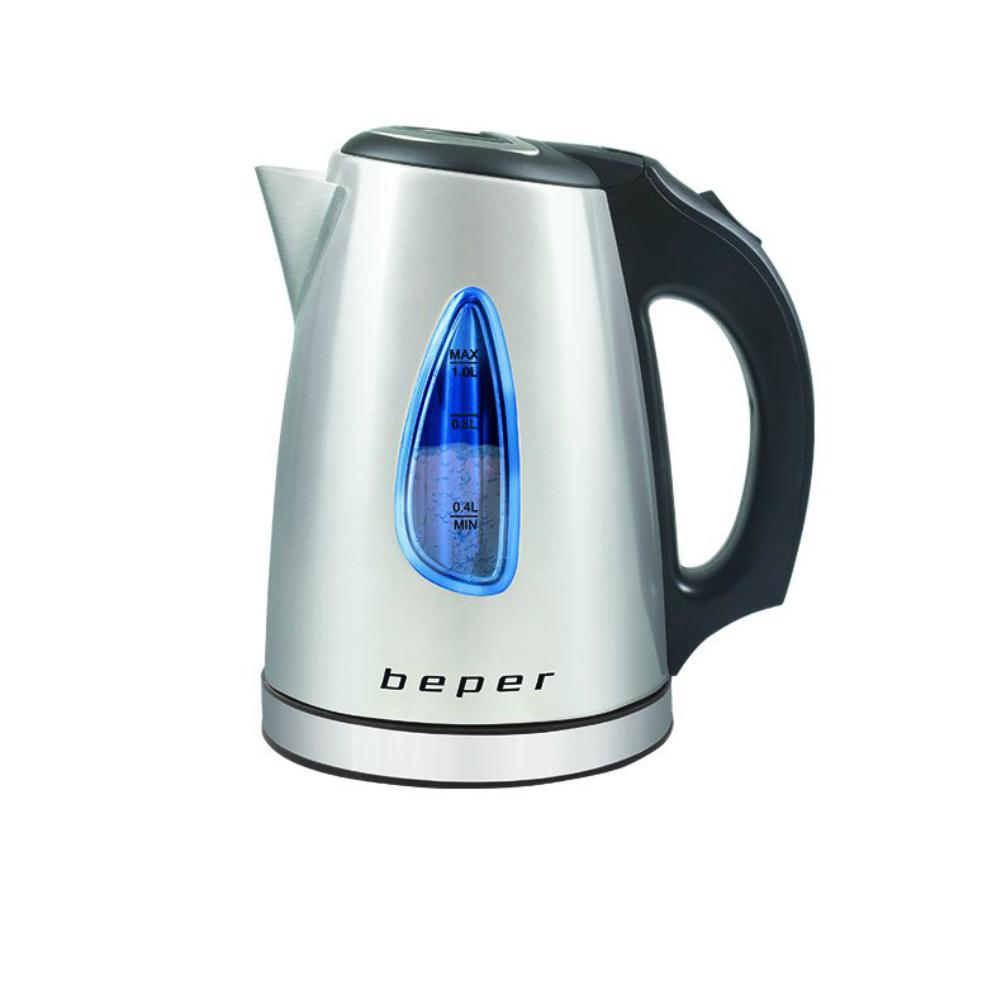 Beper BB.002 Ηλεκτρικός ανοξείδωτος βραστήρας νερού 1L 1630W