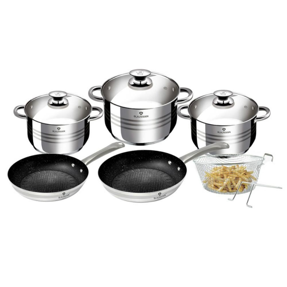 Σετ μαγειρικά σκεύη 10 τεμαχίων Blaumann Gourmet Line BL-3243