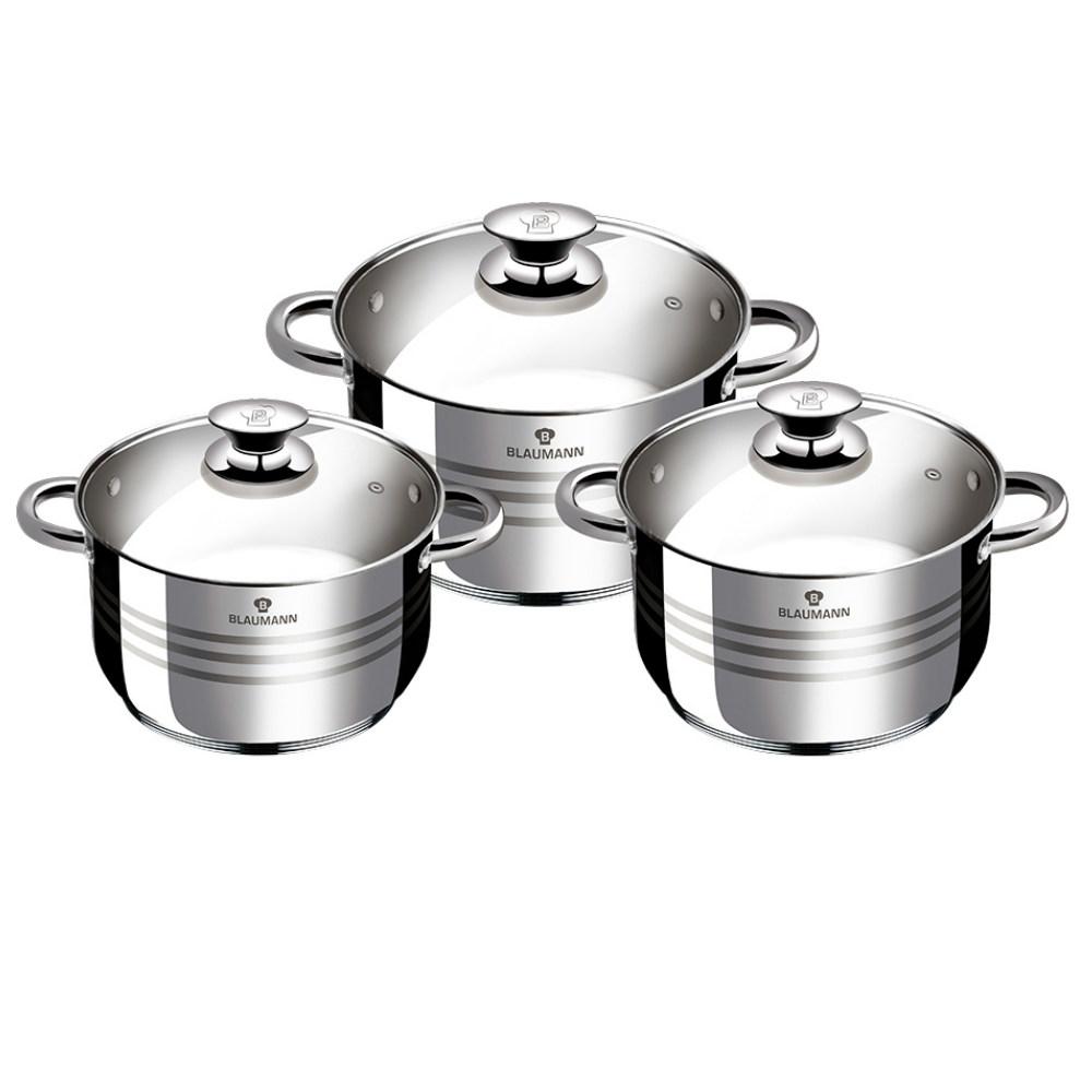 Σετ Μαγειρικών Σκευών από Ανοξείδωτο Ατσάλι 6 τμχ Gourmet Line Blaumann BL-3174